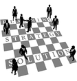 Planning Strategy Solution human chess people vector image vector image