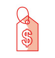 price tag isolated icon vector image vector image