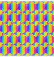 rainbow honeycomb seamless pattern vector image