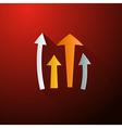 Retro Arrows on Dark Red Background vector image vector image