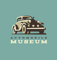 retro car logo classic style vector image vector image