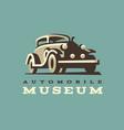 retro car logo classic style vector image