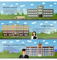 School and university buildings vector image vector image