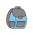 school bag isolated icon vector image vector image
