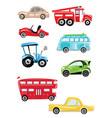 set cartoon transport collection cars vector image