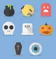 set halloween icons vector image vector image