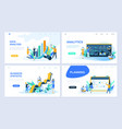 set landing page template flat concept vector image vector image