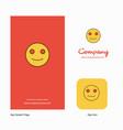 smiley emoji company logo app icon and splash vector image
