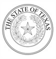 the state of texas seal vector image vector image