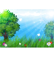 Trees in the meadow vector image vector image