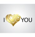Valentines Card with love lettering vector image vector image