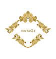 vintage frame decorative design elements vector image