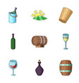 viticulture icons set cartoon style vector image vector image