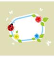 on a framework the ladybird creeps a vector illust vector image