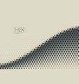 2d abstract geometric wave hex halftone pattern vector image vector image