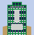 a green building vector image
