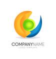 abstract 3d template logo design vector image vector image