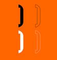 accessories for door icon vector image vector image