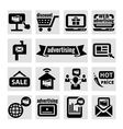 advertising icons vector image vector image