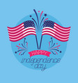 american happy independence day vector image vector image