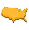 American map icon cartoon style vector image
