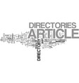 article directory anyone text word cloud concept vector image vector image