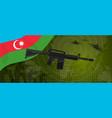 azerbaijan military force power national armed vector image