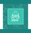 back to school poster with alarm clock drawing vector image vector image