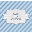Back to School realistic Emblem with paper Ribbon vector image