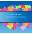 Banner with balloons vector image