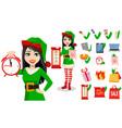 beautiful woman in costume of elf vector image vector image