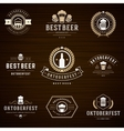 Beer festival Oktoberfest labels badges and logos vector image