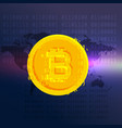 bitcoin currency symbol digital background vector image vector image