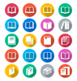 Book flat color icons vector image vector image