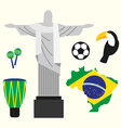 Brazil travel concept flat design vector image