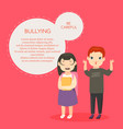 bullying banner template with text space vector image