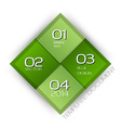 business four squares green with text vector image vector image