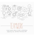 business teamwork symbols vector image vector image