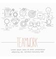 business teamwork symbols vector image