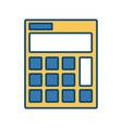 calculator isolated symbol vector image