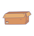 cardboard box open empty cargo delivery icon vector image