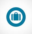 Case bold blue border circle icon vector image vector image
