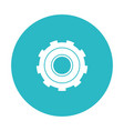 circle light blue with gear of wheel vector image vector image