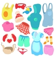 Clothes Icons set cartoon style vector image vector image