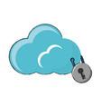 cloud storage design concept vector image vector image