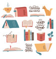 colorful books icons set learn and study vector image