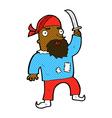 comic cartoon pirate vector image vector image