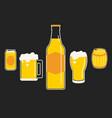 drink of beer vector image vector image