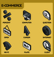 e-commerce color outline isometric icons vector image vector image