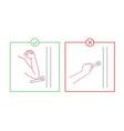 elbow bump image vector image vector image